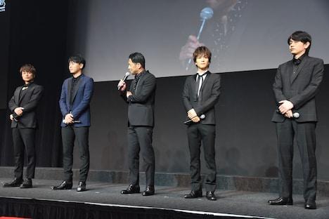 左から白濱亜嵐、山下健二郎、EXILE HIRO、岩田剛典、青柳翔。