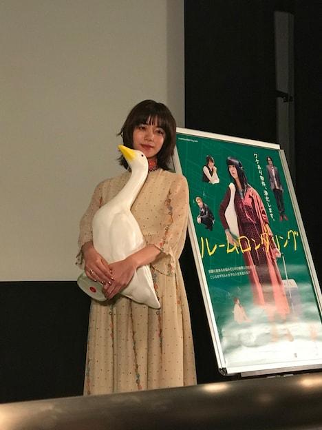 「ルームロンダリング」舞台挨拶に登壇した池田エライザ。