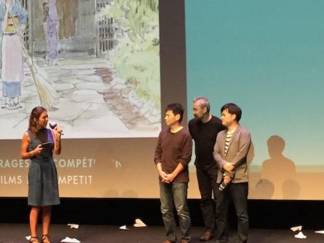 アヌシー国際アニメーション映画祭にて、「劇場版『若おかみは小学生!』」舞台挨拶の様子。
