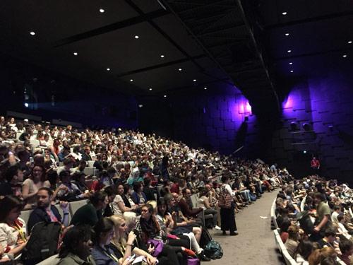 アヌシー国際アニメーション映画祭にて、「劇場版『若おかみは小学生!』」の上映会場。