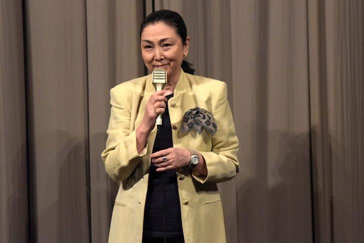 舞台挨拶に登壇した梶芽衣子。