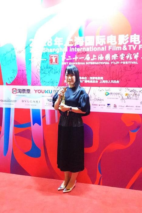 第21回上海国際映画祭に出席した岡田麿里。