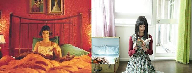 左から「アメリ」よりオドレイ・トトゥ演じるアメリ、「ルームロンダリング」より池田エライザ演じる八雲御子。