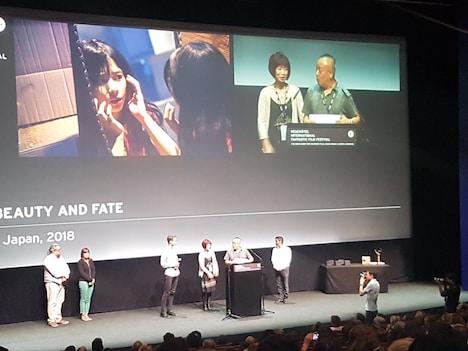 「累-かさね-」第18回ヌーシャテル国際ファンタスティック映画祭、舞台挨拶の様子。