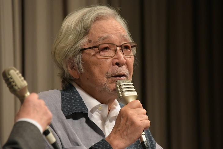 「第七回新藤兼人平和映画祭」トークイベントに登壇した山田洋次。