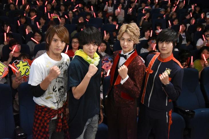 左から赤楚衛二、犬飼貴丈、伊藤あさひ、結木滉星。