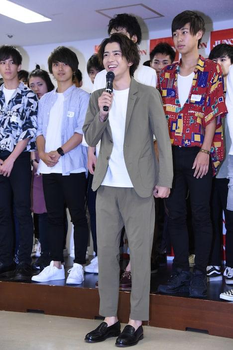 「第31回ジュノン・スーパーボーイ・コンテスト BEST30お披露目イベント」の様子。
