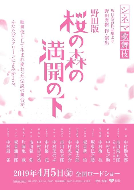 シネマ歌舞伎「野田版 桜の森の満開の下」ビジュアル