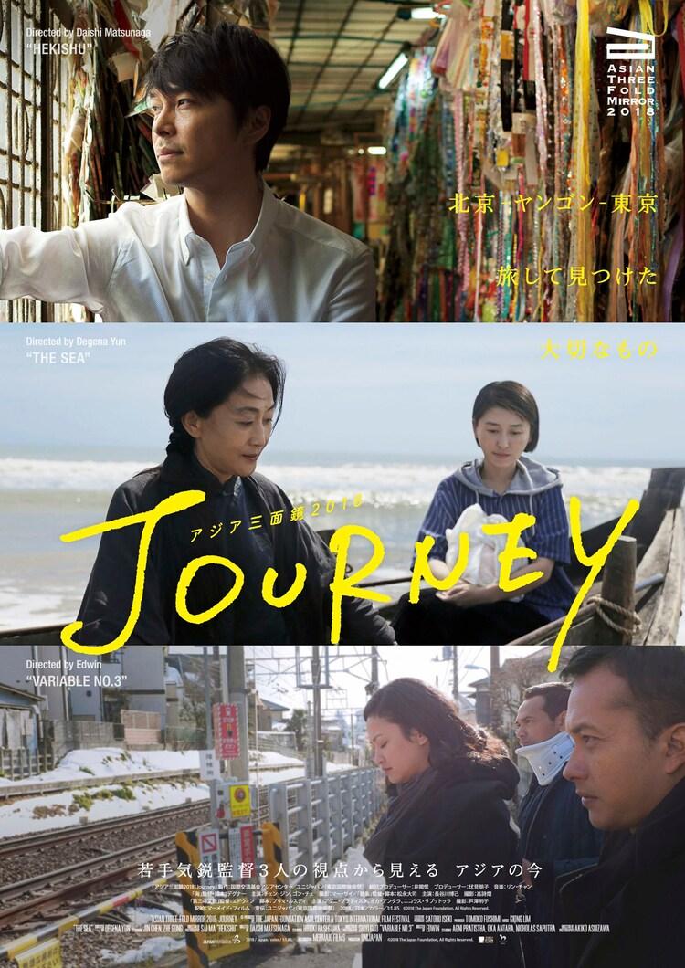 「アジア三面鏡2018:Journey」ポスタービジュアル