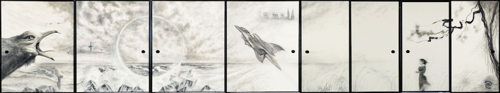 「蒼きウル」イメージボード(京都・大徳寺真珠庵襖絵)