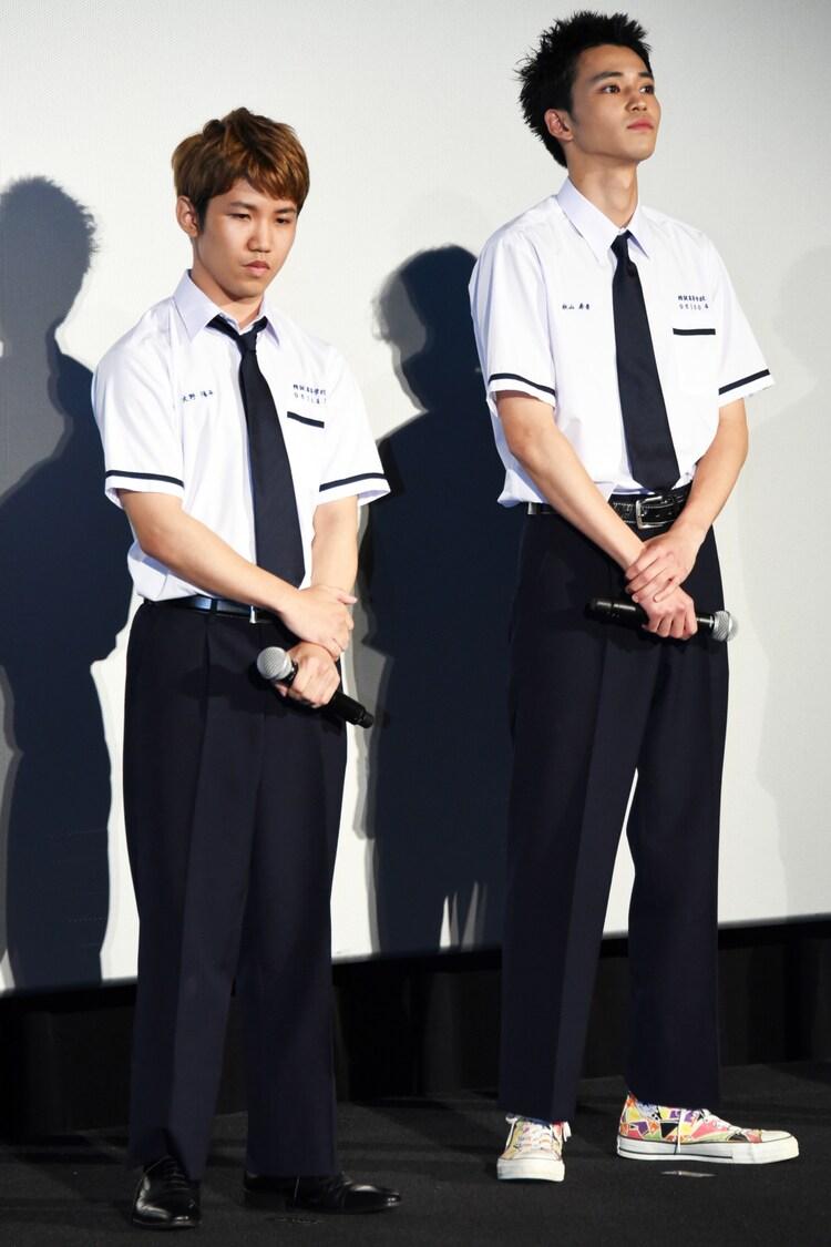 左から佐久本宝、中田圭祐。