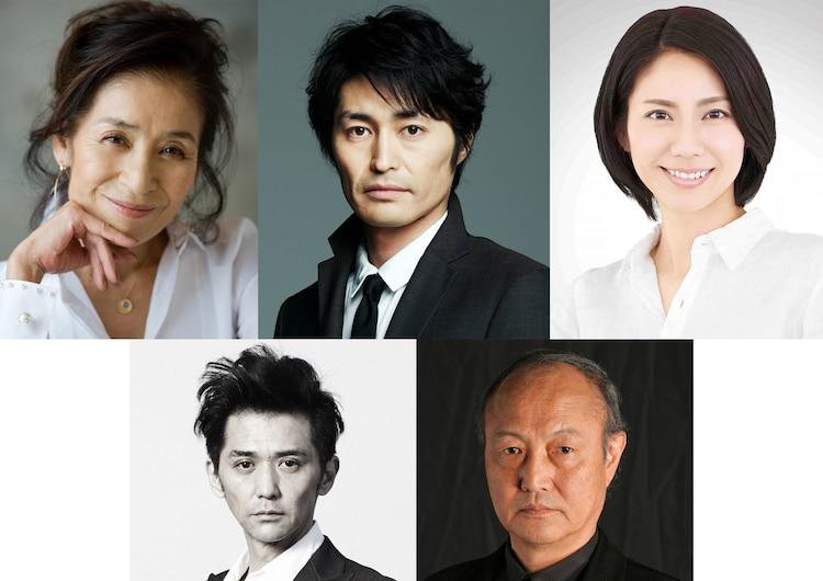 「母を亡くした時、僕は遺骨を食べたいと思った。」キャスト。左上から倍賞美津子、安田顕、松下奈緒。下段左から村上淳、石橋蓮司。