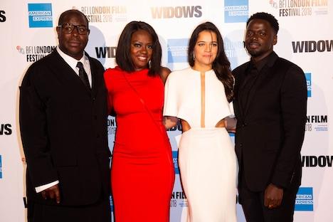 ロンドン映画祭にて、左からスティーヴ・マックィーン、ヴィオラ・デイヴィス、ミシェル・ロドリゲス、ダニエル・カルーヤ。