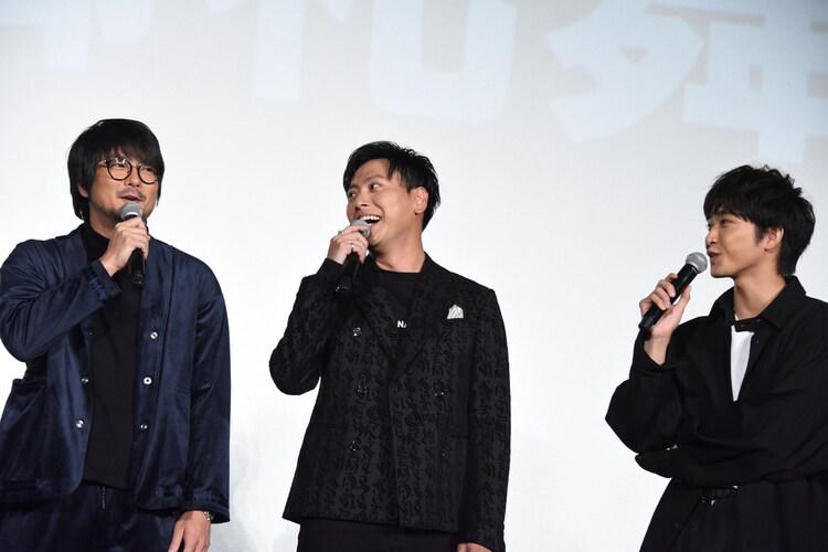 左から平沼紀久、山下健二郎、佐藤寛太。