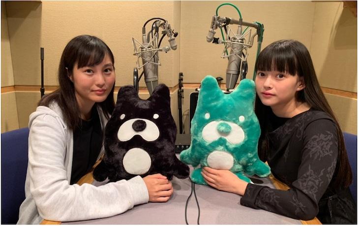 左から松本花奈、夏子。