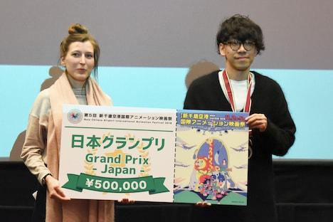 日本グランプリを受賞した和田淳(右)。