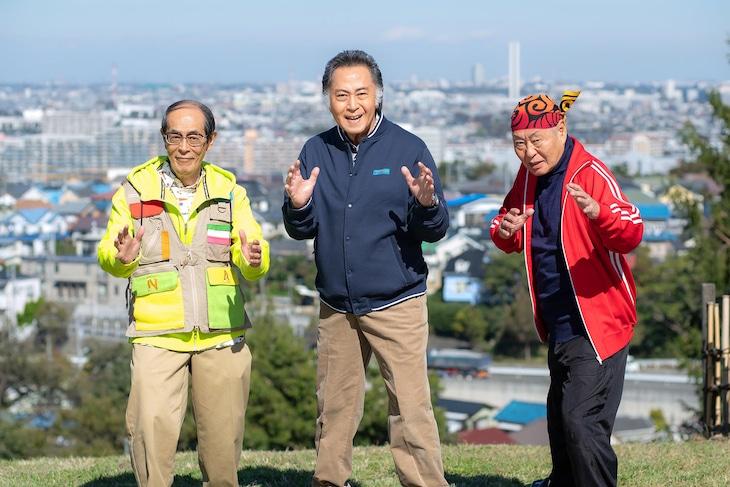 左から志賀廣太郎演じるノリ、北大路欣也演じるキヨ、泉谷しげる演じるシゲ。