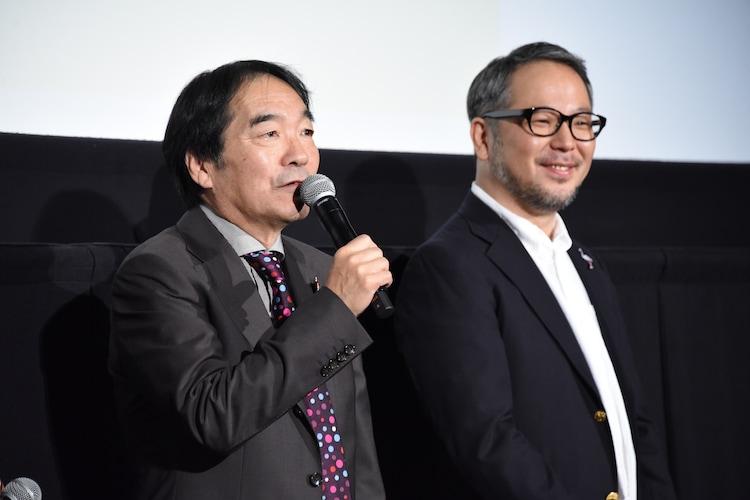 左からきたろう、菊地健雄。