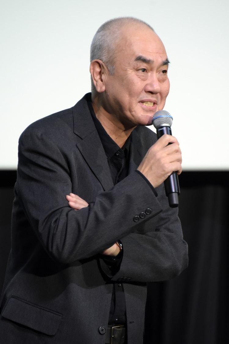 2018年11月11日に東京・TOHOシネマズ 日比谷で行われた「この道」完成披露舞台挨拶に出席した佐々部清。