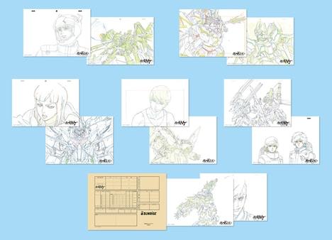 「機動戦士ガンダムNT」第1週来場者特典の複製原画セット。