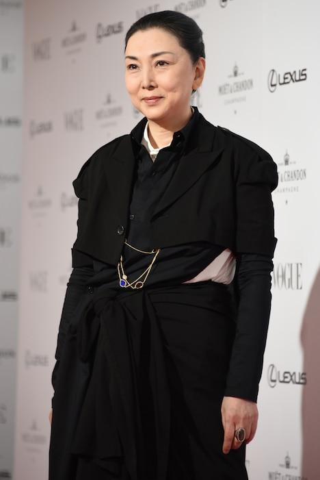 2018年11月に「VOGUE JAPAN WOMEN OF THE YEAR 2018」授賞式に出席した梶芽衣子。