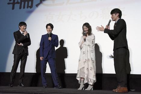 「輪違屋糸里 京女たちの幕末」完成披露上映会の様子。