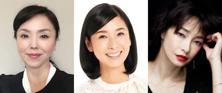 左から松田美由紀、黒木瞳、りょう。