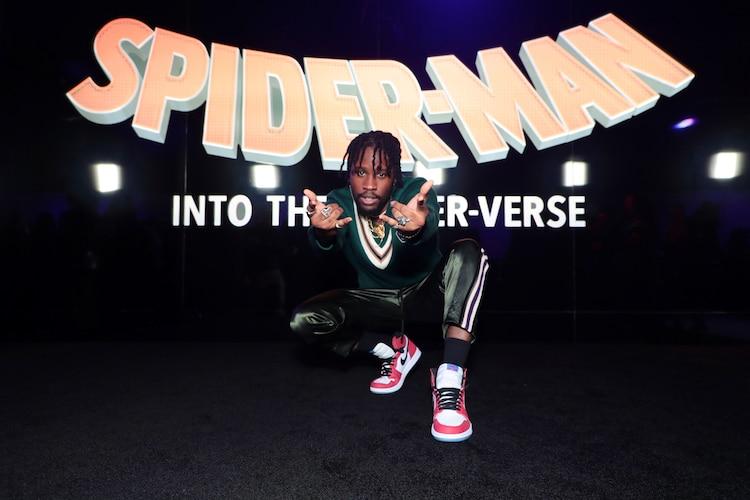 「スパイダーマン:スパイダーバース」ワールドプレミアに出席したシャメイク・ムーア。