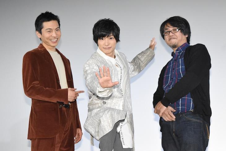 「新宿パンチ」追加舞台挨拶の様子。左から宮崎秋人、小澤廉、城定秀夫。