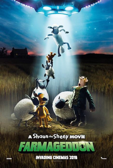 「A Shaun the Sheep MOVIE: FARMAGEDDON(原題)」海外版ポスタービジュアル (c)2018 AARDMAN ANIMATIONS LTD AND STUDIOCANAL SAS