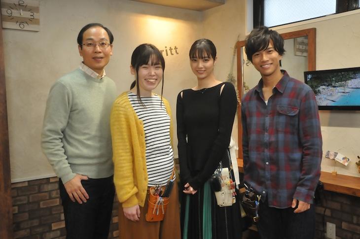 左から正名僕蔵、尼神インター誠子、新川優愛、岡田龍太郎。