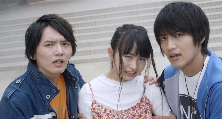 「劇場版ウルトラマンR/B セレクト!絆のクリスタル」より。左から朝倉リク、湊アサヒ、湊イサミ。