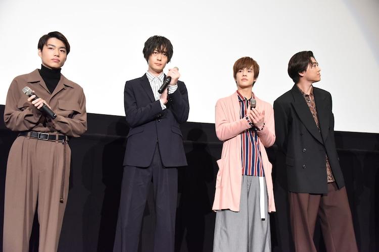 左から福崎那由他、犬飼貴丈、奥野壮、大東駿介。