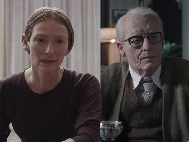 ティルダ・スウィントン演じるマダム・ブラン(左)、クレンペラー博士(右)。