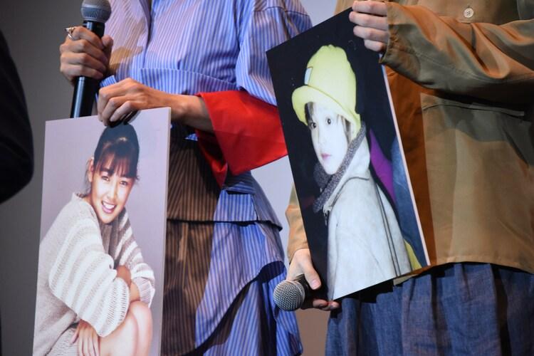 左から18歳の財前直見、幼少期の横浜流星。