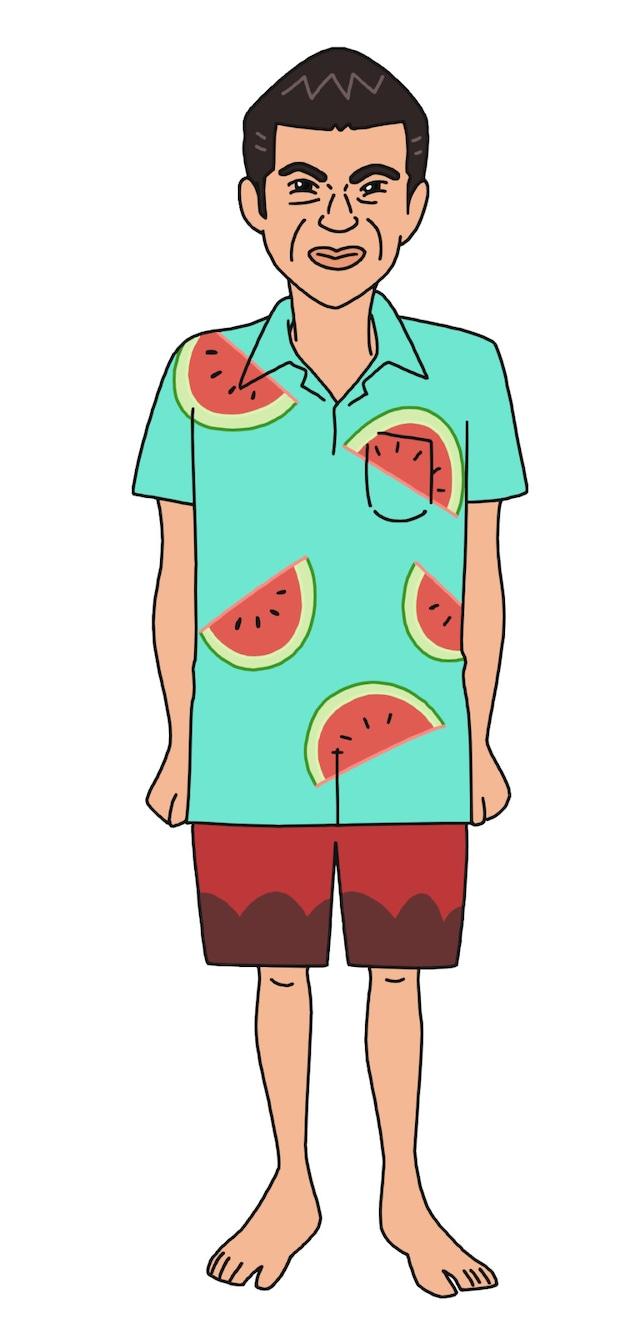 小島よしおが本人役で声を当てるキャラクター。