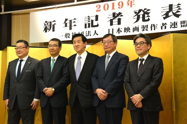 左から迫本淳一、島谷能成、岡田裕介、多田憲之、井上伸一郎。