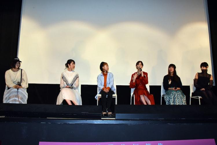 「21世紀の女の子」舞台挨拶の様子。