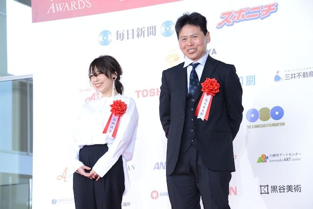 左から山田尚子、高坂希太郎。