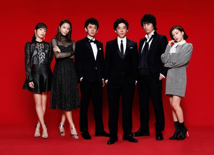 左から桜井ユキ、高橋メアリージュン、滝藤賢一、高橋一生、斎藤工、仲里依紗。