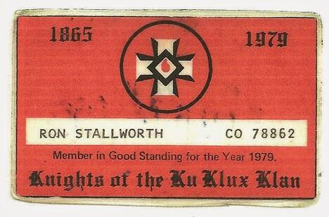 KKKの会員証。