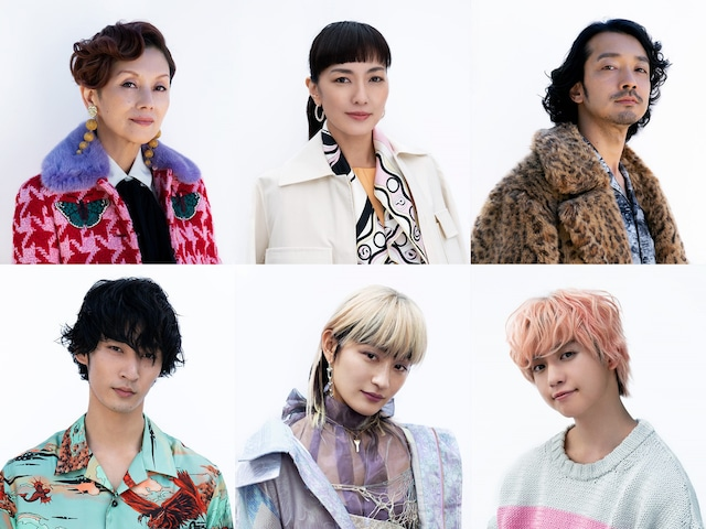 「Followers」追加キャスト。上段左から夏木マリ、板谷由夏、金子ノブアキ。下段左から上杉柊平、コムアイ、ゆうたろう。
