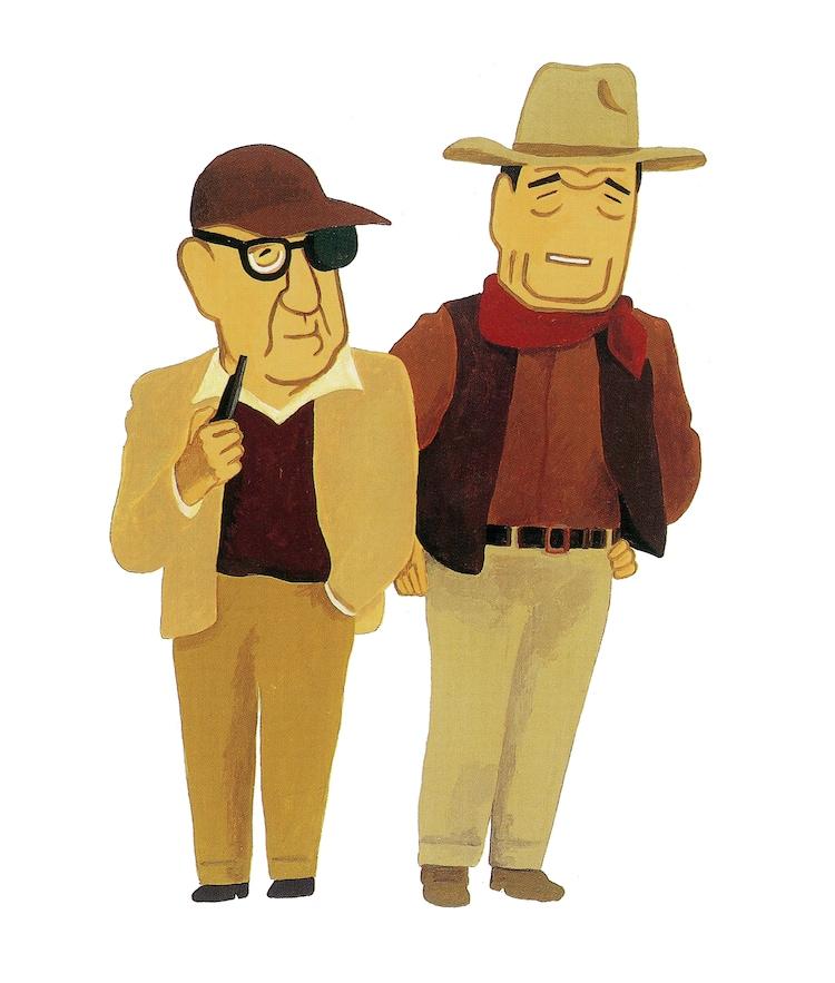 「ジョン・フォードとジョン・ウェイン(『CALENDAR 1996 CINEMA 101 DIRECTORS』より)」