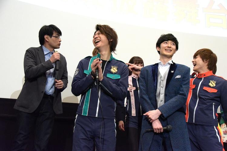 「ホウオウソルジャー役の……」と挨拶した加藤弘之(左端)。
