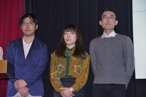 左から佐藤広大、Sarina Nihei、薄羽涼彌。
