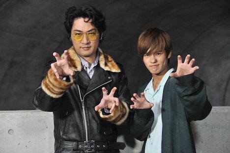 左から次狼役の松田賢二、常磐ソウゴ役の奥野壮。
