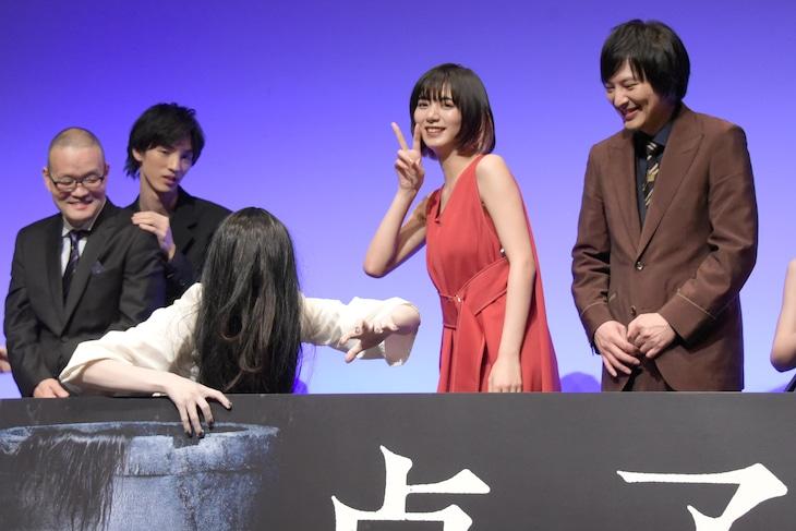「貞子」完成披露試写会の様子。