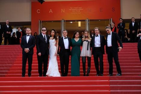 第72回カンヌ国際映画祭で行われた「ワンス・アポン・ア・タイム・イン・ハリウッド」レッドカーペットイベントの様子。