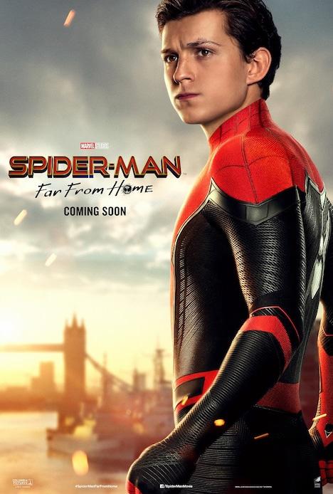 ピーター・パーカー / スパイダーマンの「スパイダーマン:ファー・フロム・ホーム」キャラポスタービジュアル。