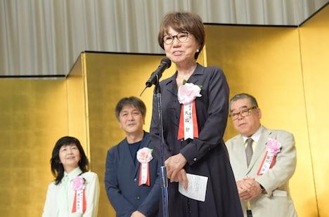 大石静(手前)。奥左から井上由美子、岡田惠和、冨川元文。